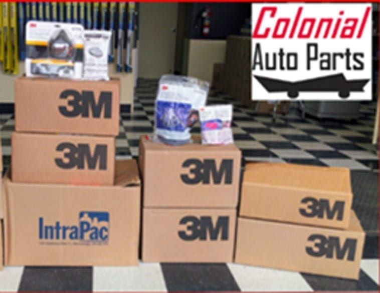 Donated 3M respirator masks (Photo : Colonial Auto Parts)